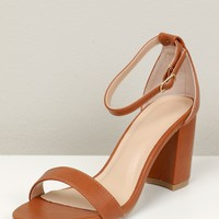 Low Thin Strappy Heel Whiskey