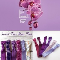 Radiant orchid Hair Tie Sets