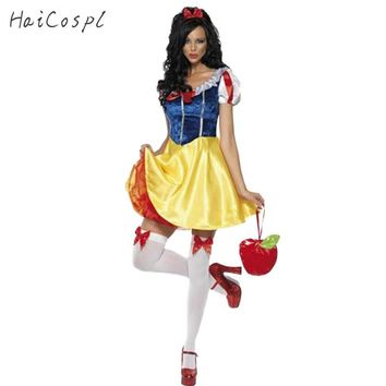 Cool Adult Snow White Costume Women Cosplay Carnival Halloween Dress Girls Fairy Tale Female Fancy Dress Plus Size Party OutfitAT_93_12