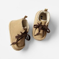Gap Baby Sherpa High Top Moccasins