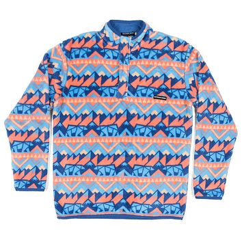 Youth Fairbanks Pullover in Navy & Peach by Southern Marsh