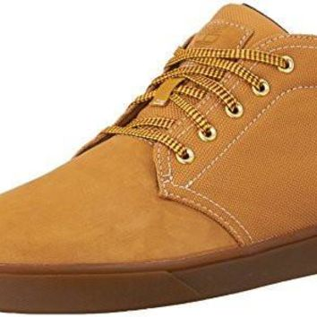 Timberland Men's Groveton Leather Fabric Chukka Boot, Wheat Nubuck, 9.5 M US