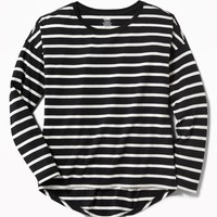 Relaxed Hi-Lo Scoop-Neck Tee for Girls  old-navy