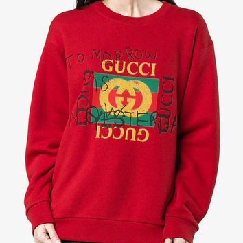 Gucci Winter Alphabet Print Pullover One G