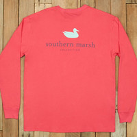 Southern Marsh Authentic Long Sleeve Tee- Strawberry Fizz