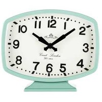 Seafoam Retro Metal Table Clock | Hobby Lobby