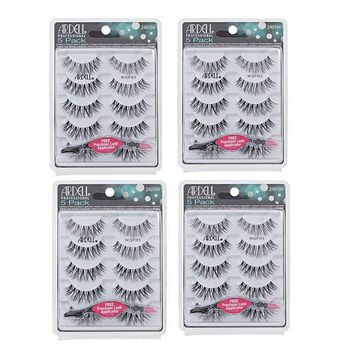 Ardell Wispies 5 Packs 68984 with Free Applicator (Multipack of 4)