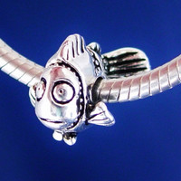 NEMO CLOWN FISH Disney European Charm Bead Silver Plated designed to fit your Bracelet or style