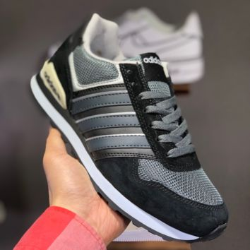 hcxx A1456 Adidas 2019 NEO 8K Retro Low Casual Running Shoes Black Gray