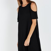 leo cold shoulder dress