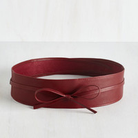 Sash Samba Belt in Red by ModCloth