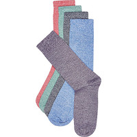 River Island MensMixed marl sock pack