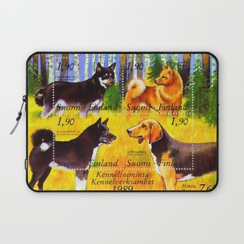 100 Years Union of Finnish Dog Breeders Laptop Sleeve by lanjee