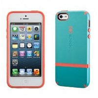 Speck Products CandyShell Flip Dockable Case for iPhone 5 & 5S - Pool Blue/Dark Pool Blue/Wild Salmon Pink