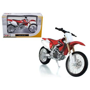 Honda CRF 450R White/Red Motorcycle 1:12 Diecast Model by Maisto