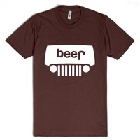 Jeep Beer-Unisex Brown T-Shirt