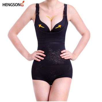 HEGNOSNG Women Bodysuits Shapewear Underwear Body Shaper Waist Corsets Buckle In The Crotch High-elastic Plus Size