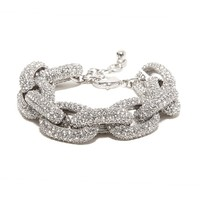 Silver Pavé Links Bracelet
