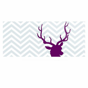 "Suzanne Carter ""Chevron Deer"" Purple  Luxe Rectangle Panel"