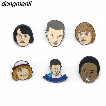 F431 Stranger Things Eleven Enamel Pin,Friends don't tell Lie Hand Stamped Letter Pins Brooch for Jeans/Backpack