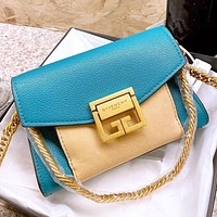 Givenchy New fashion leather shoulder bag chain crossbody bag Blue