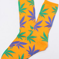 HUF Exclusive Plantlife Socks in Soda Orange Green Blue : Karmaloop.com - Global Concrete Culture