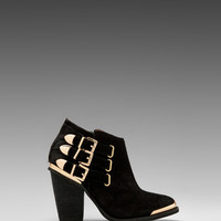 Jeffrey Campbell Westin in Black Suede Gold from REVOLVEclothing.com