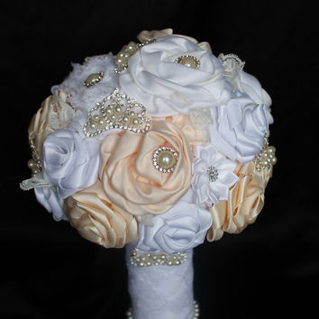 Ivory Fabric Bouquet Collection