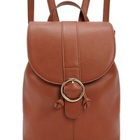 Faux Leather O-Ring Backpack