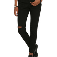 Almost Famous Black Distressed Skinny Skinny