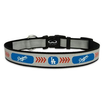 Los Angeles Dodgers Reflective Nylon Dog Collar Size Large
