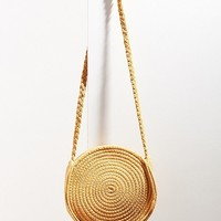 Circle Woven Crossbody Bag | Urban Outfitters