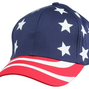 DALIX Hat Pro-Style USA Stars and Stripes Cap American Patriotic Caps