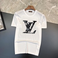LV Men Fashion Casual Letter Print Shirt Top Tee
