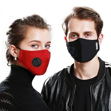 1PC Anti PM2.5 Cotton Anti Haze Anti-dust Mask Activated Carbon Filter Respirator Mouth-muffle With Valve
