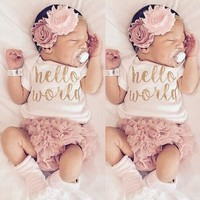 Cute Newborn Baby Girl Boy Kid Clothes Bodysuit Romper Jumpsuit Playsuit Outfit