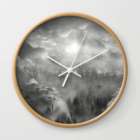 Black and White - Wish You Were Here (Chapter I) Wall Clock by vivianagonzlez