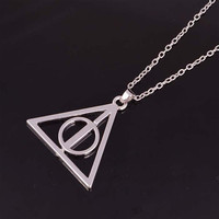 Circle in a Pyramid Necklace