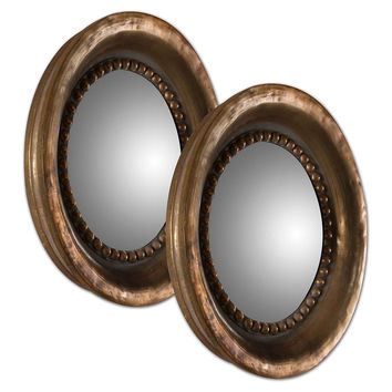 Mirrors, Vincent Accent Mirror Set, Copper, Wall Mirrors