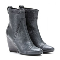balenciaga - leather wedge brogue ankle boots