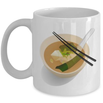 Miso Soup Mug Ramen Addict Gift Idea Coffee Cup