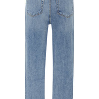 Cropped High-Rise Rigid Straight-Leg Jeans | Moda Operandi
