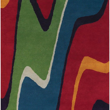 Bense Collection Hand-Tufted Area Rug, Wave design by Chandra rugs