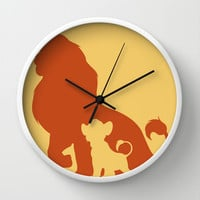 The Lion King Wall Clock by Citron Vert