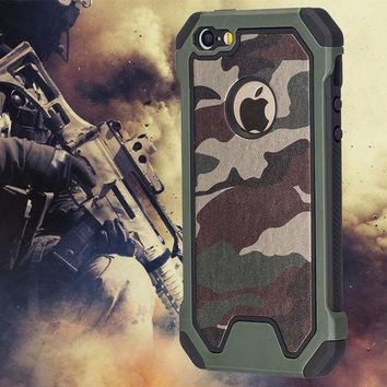 ICIKSV3 Military Camo Green Case For iPhone 7 Plus 6 5S 6S SE 7Plus