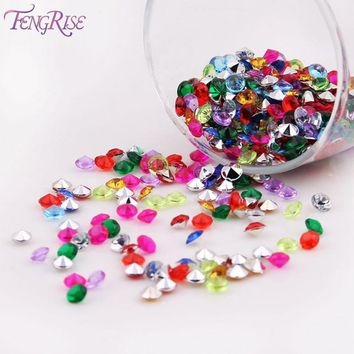 FENGRISE 1000PS 45mm Wedding Decoration Crafts Diamond Confetti