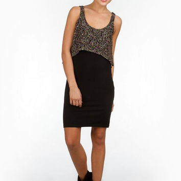 Hudson Overlay Tank Dress - Black