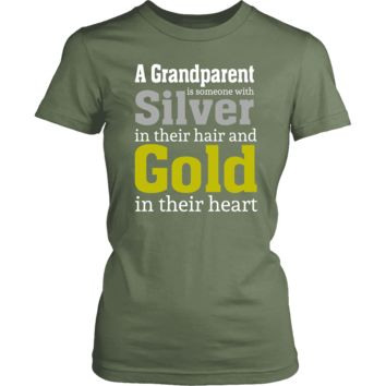 """""""Silver and Gold"""" Grandparent Women's T-Shirts"""