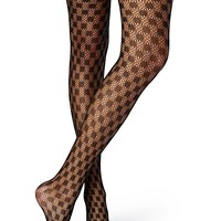 Polka Dot Netted Tights
