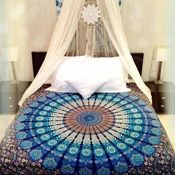 Hippie Indian Mandala Tapestry Wall Hanging Boho Bohemian Bedspread Dorm Decoration
